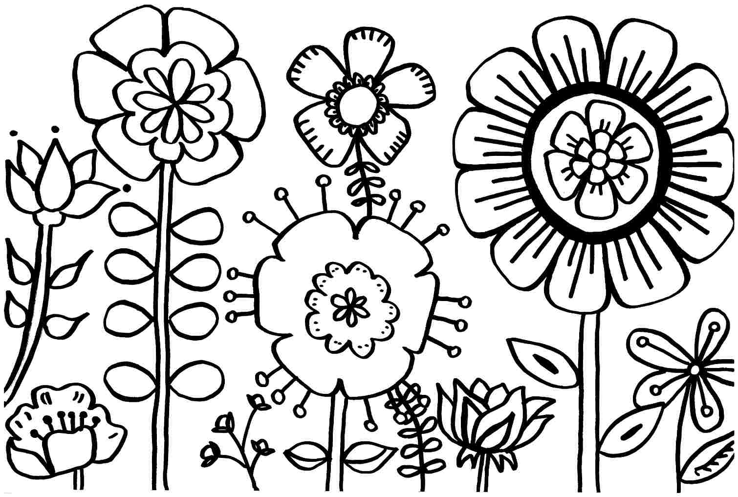 spring coloring pages to print - spring coloring page