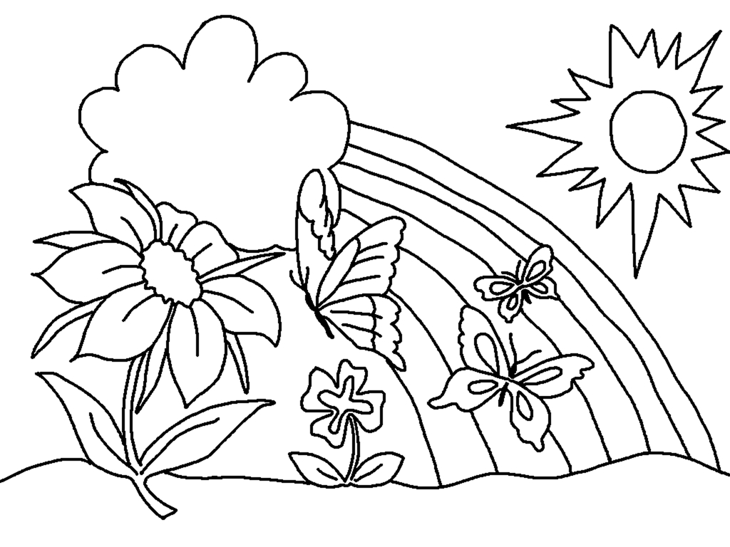 spring coloring pages to print - 1733