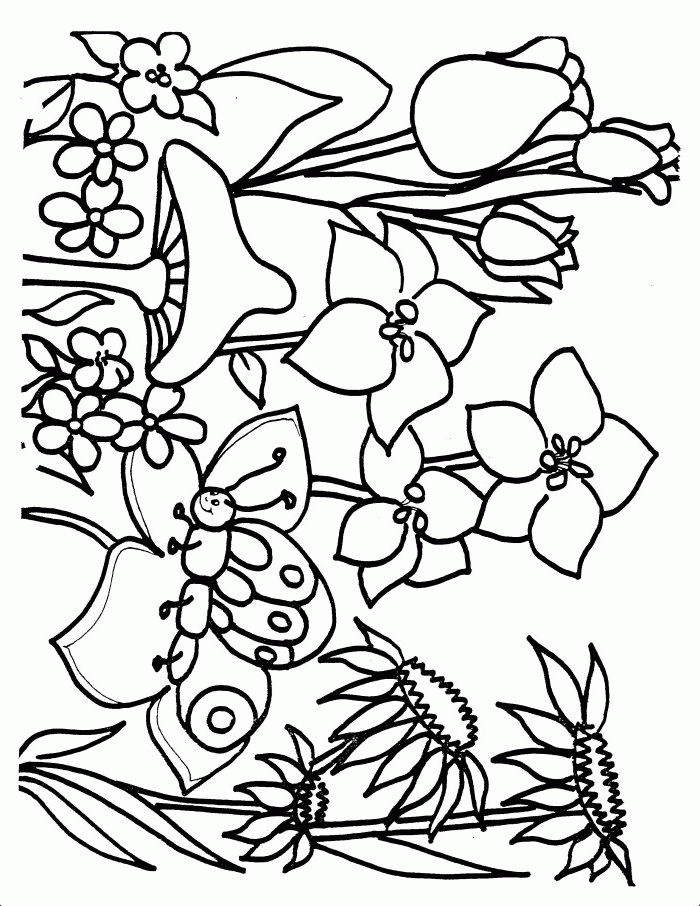 spring coloring pages to print - spring coloring pages