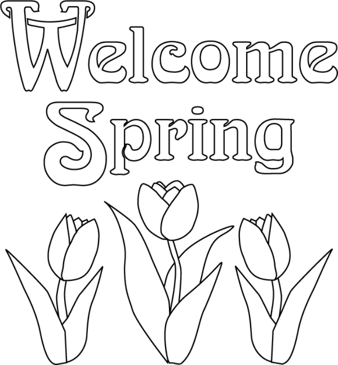 spring flowers coloring pages - printable flower coloring pages
