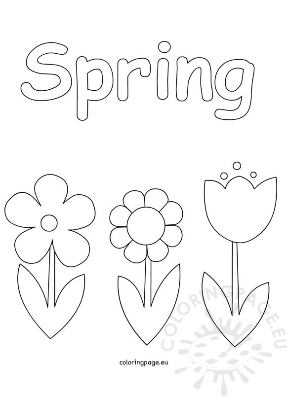 spring flowers coloring pages - spring coloring pages kids