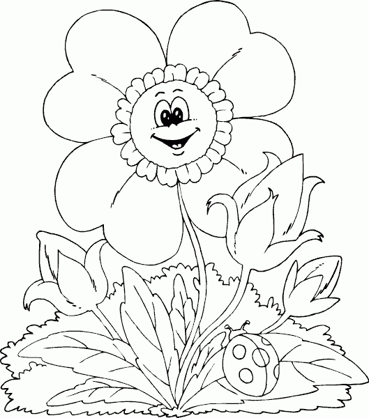spring flowers coloring pages - springflower