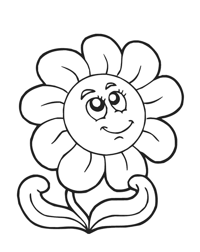 spring flowers coloring pages - spring flowers coloring page
