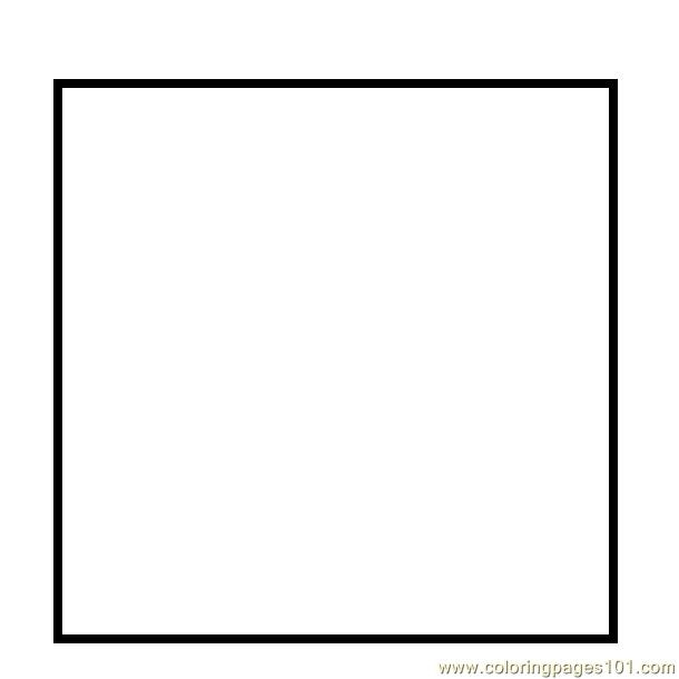 square coloring pages - Simple square shape