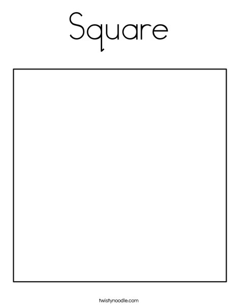 Square Coloring Pages - Square Coloring Page Twisty Noodle