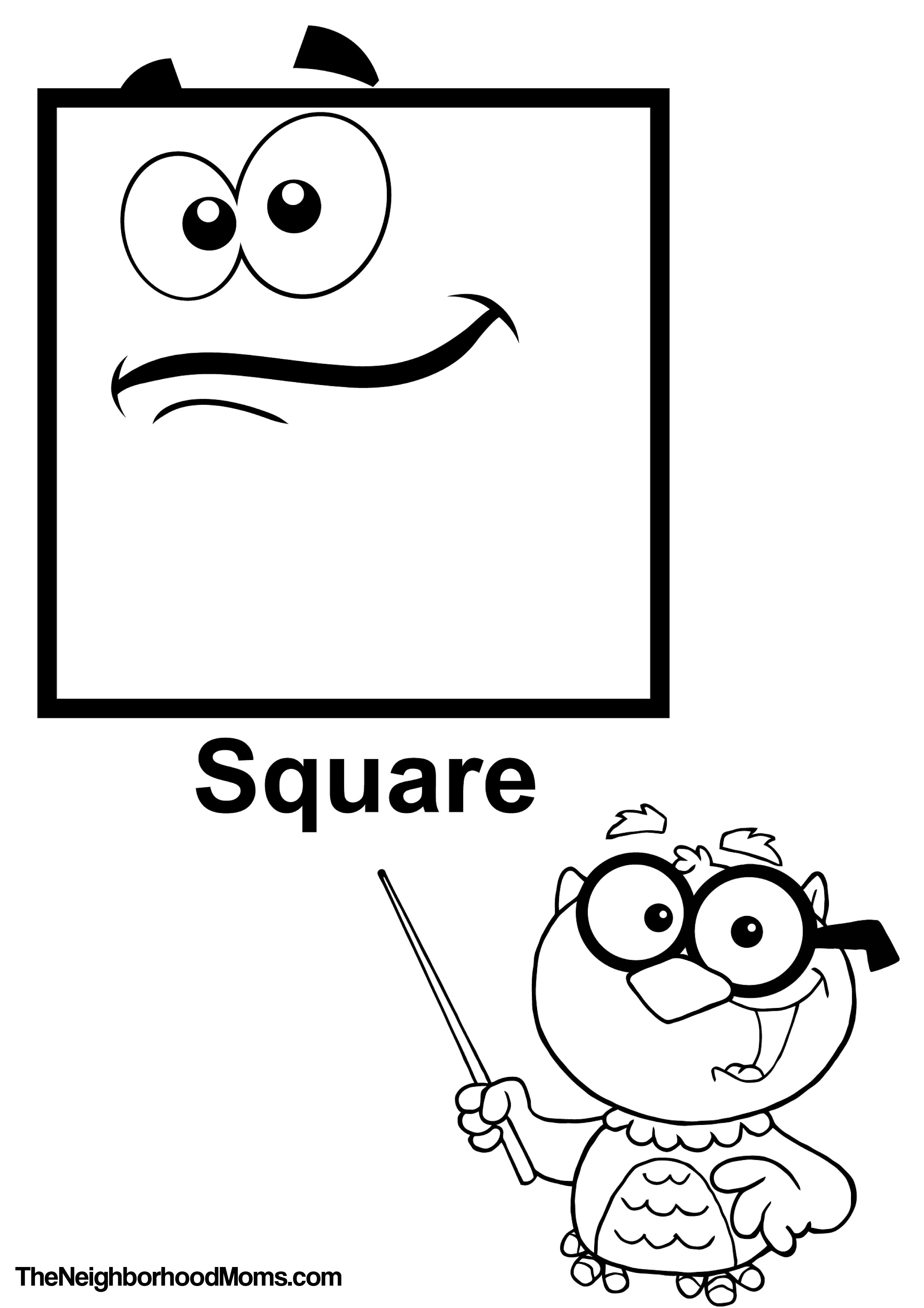 square coloring pages - 1