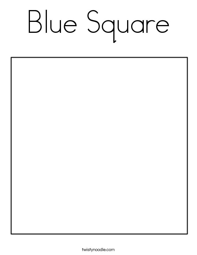 square coloring pages - Square