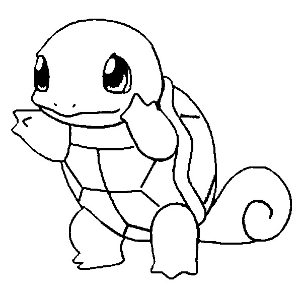 squirtle coloring page - 7 en pokemon
