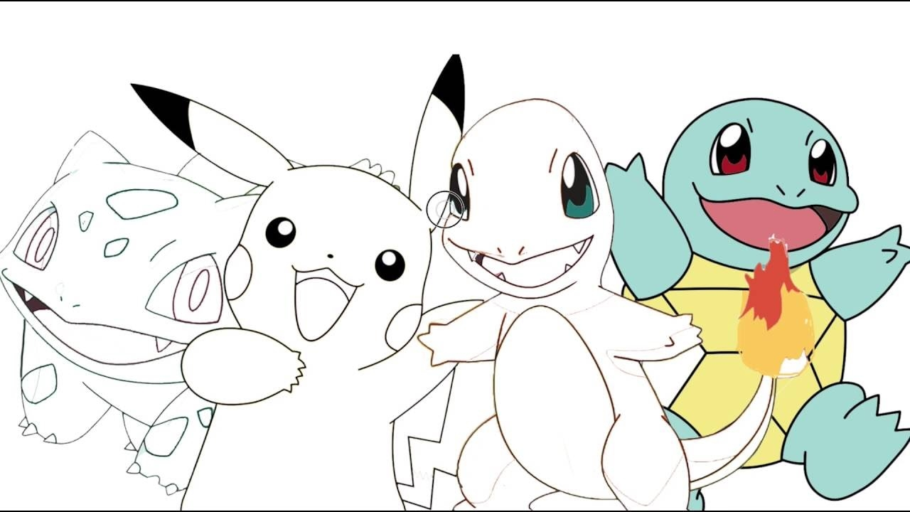 squirtle coloring page - watch v=tksDCxSSORo