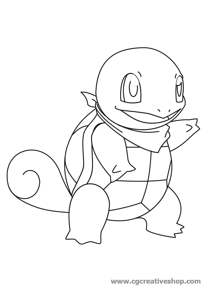 squirtle coloring page - pokemon le coloring pages printable images
