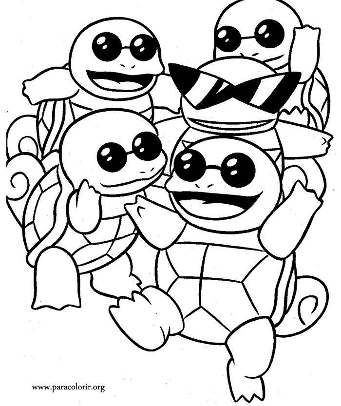 squirtle coloring page - 192 le squad coloring page