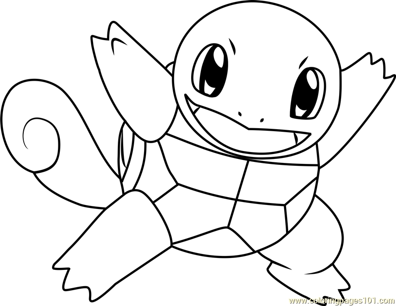 squirtle coloring page - le pokemon coloring page
