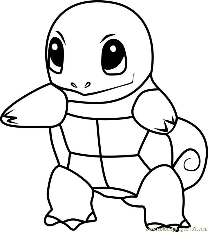 squirtle coloring page - le pokemon go coloring page