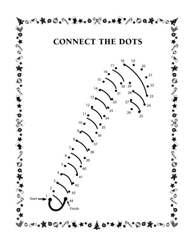 st patrick coloring pages religious - connect the dots candy cane