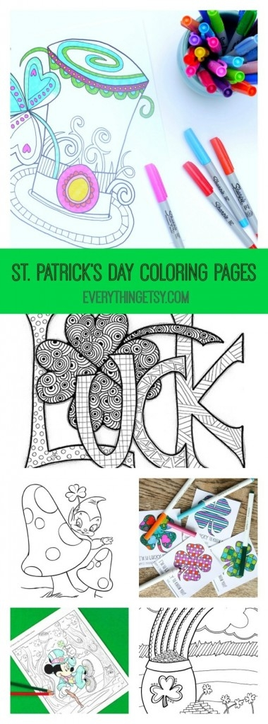 st patrick's day coloring pages for adults - 101 handmade st patricks day ideas