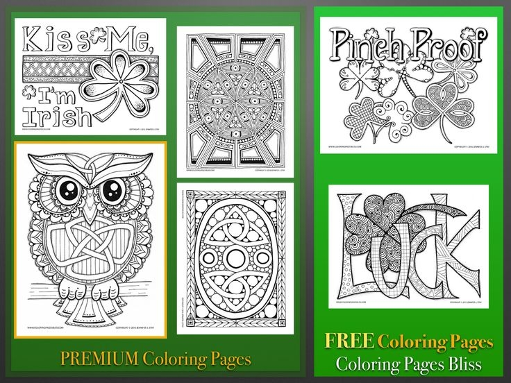 st patrick's day coloring pages for adults - holiday art