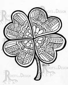 st patrick's day coloring pages for adults - art zentangle holiday