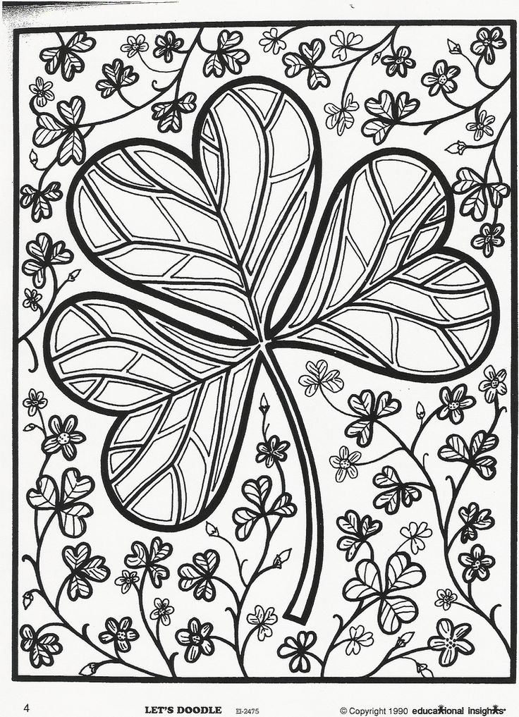 st patrick's day coloring pages for adults -