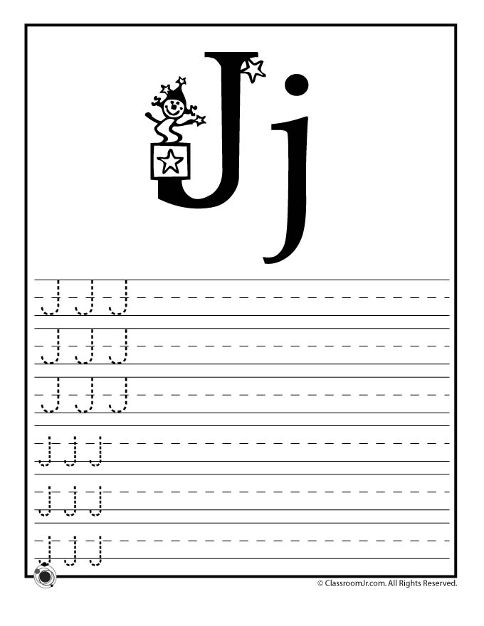 st patricks coloring pages - letter j practice