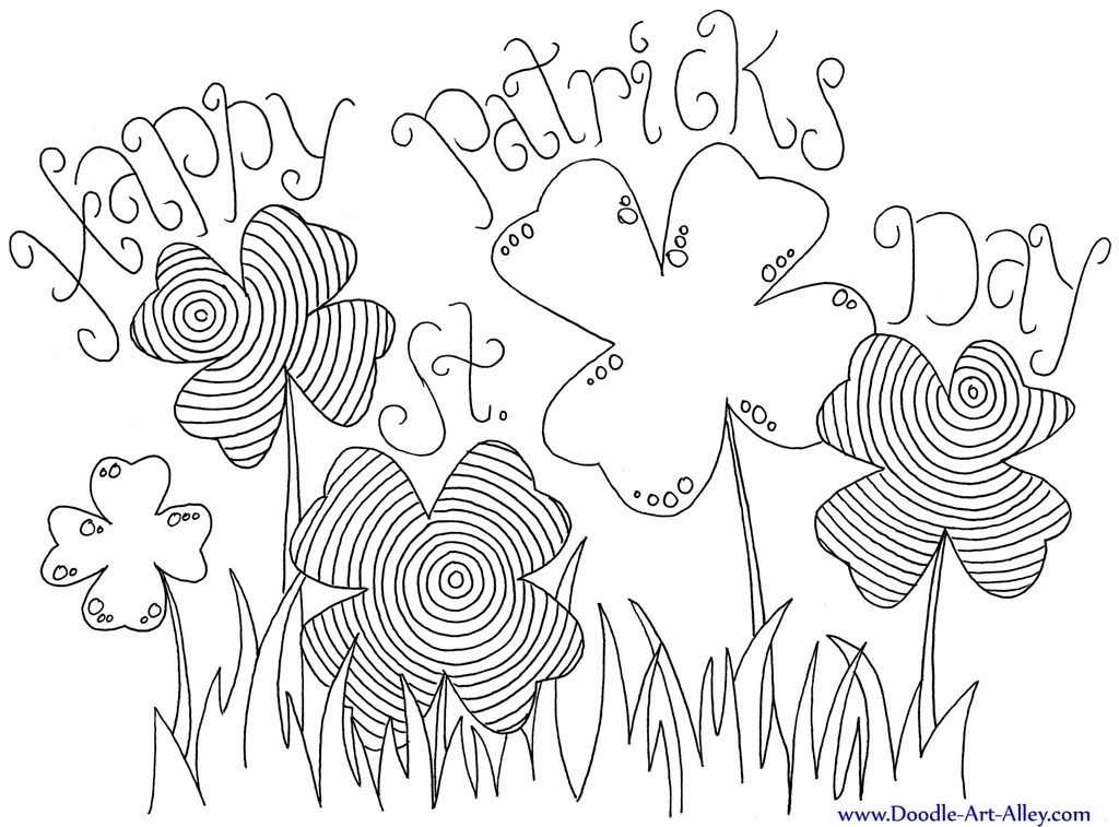 st patty's day coloring pages - 12 st patricks day printable coloring pages for adults kids
