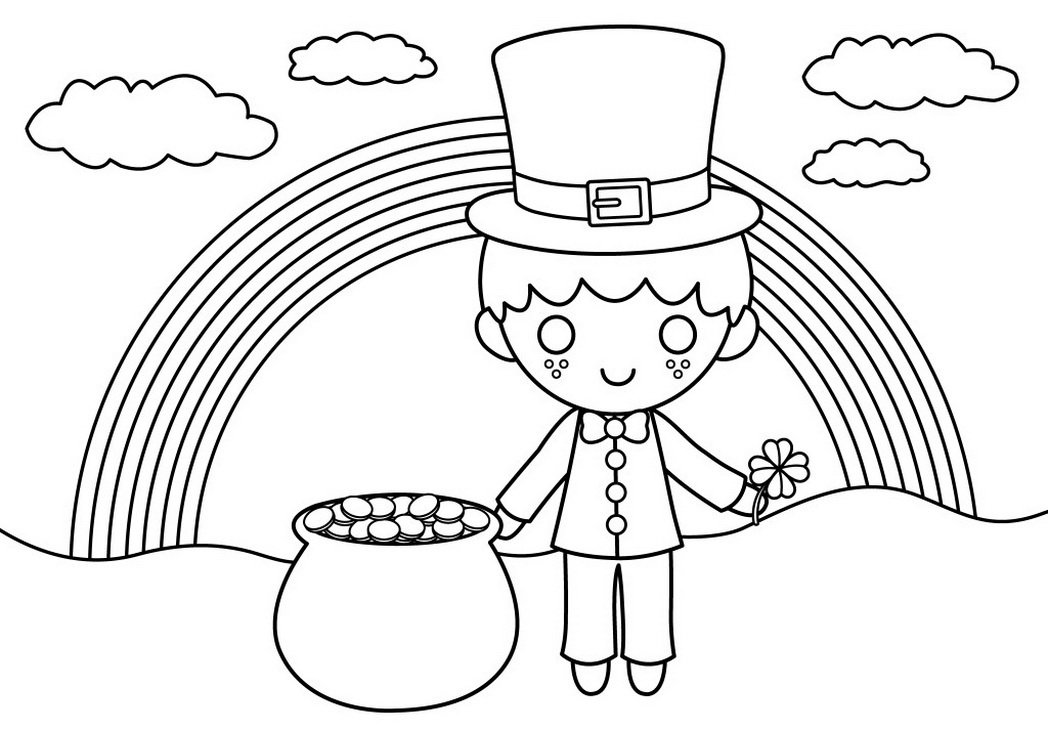 st patty's day coloring pages - cute patricks coloring page free clip art
