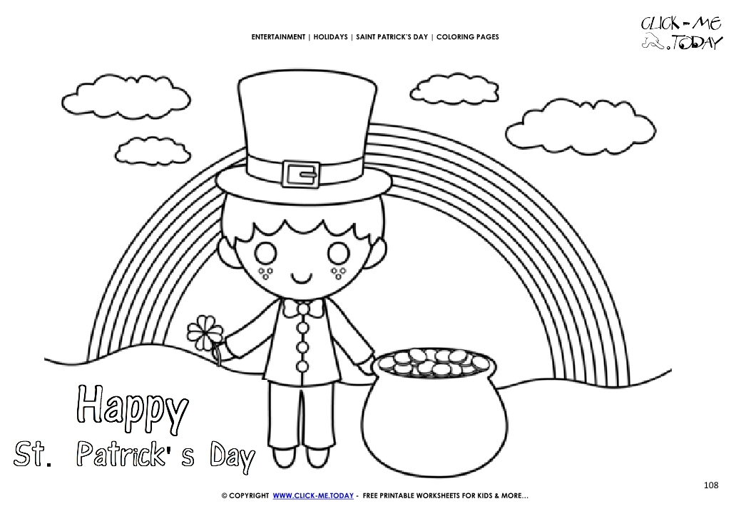 st patty's day coloring pages - 2791 st patrick s day coloring page 108 leprechaun landscape happy