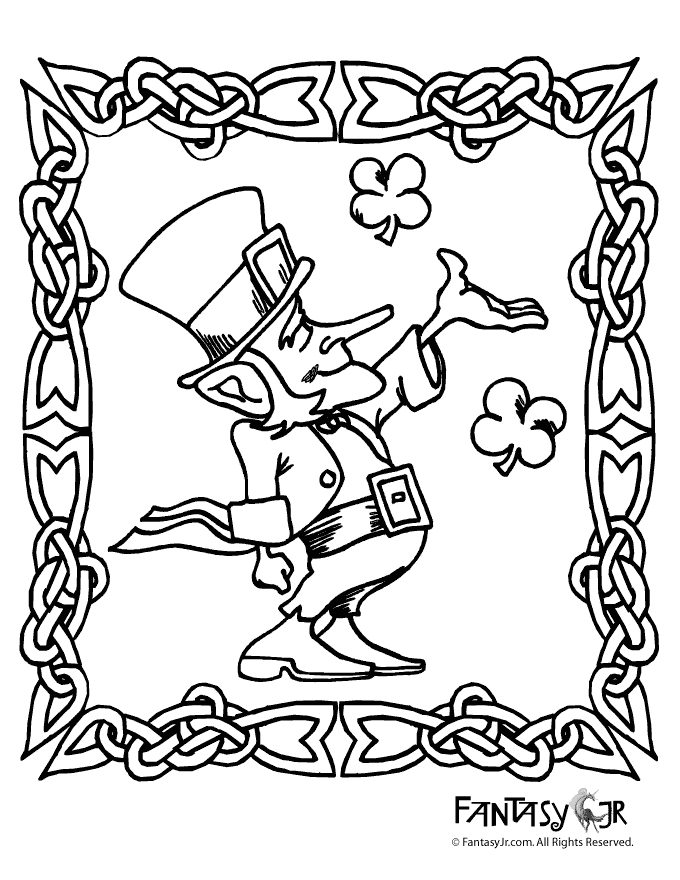 st patty's day coloring pages -