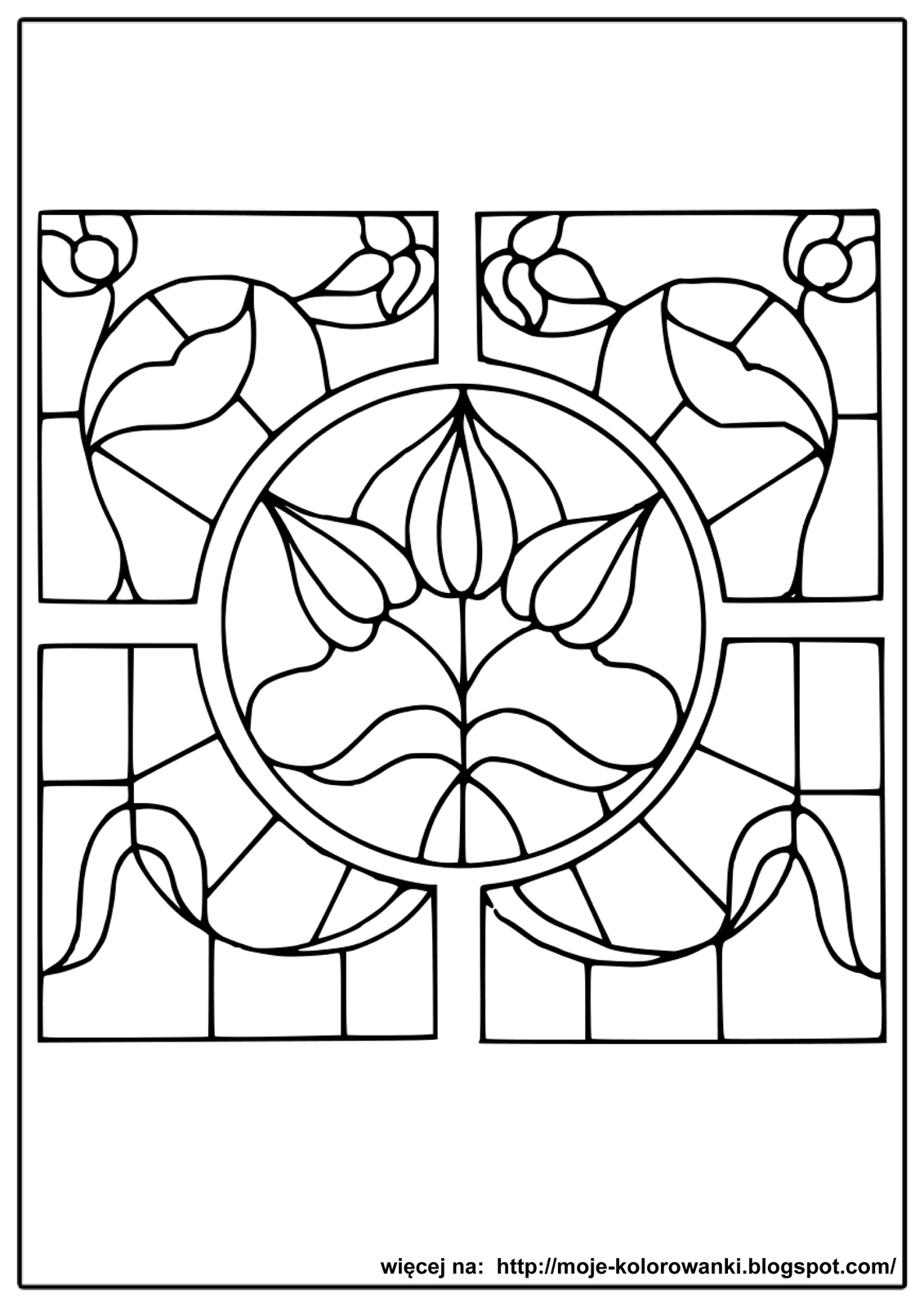 stained glass coloring pages - witraze