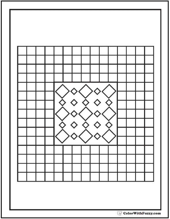 stained glass coloring pages - pattern coloring pages