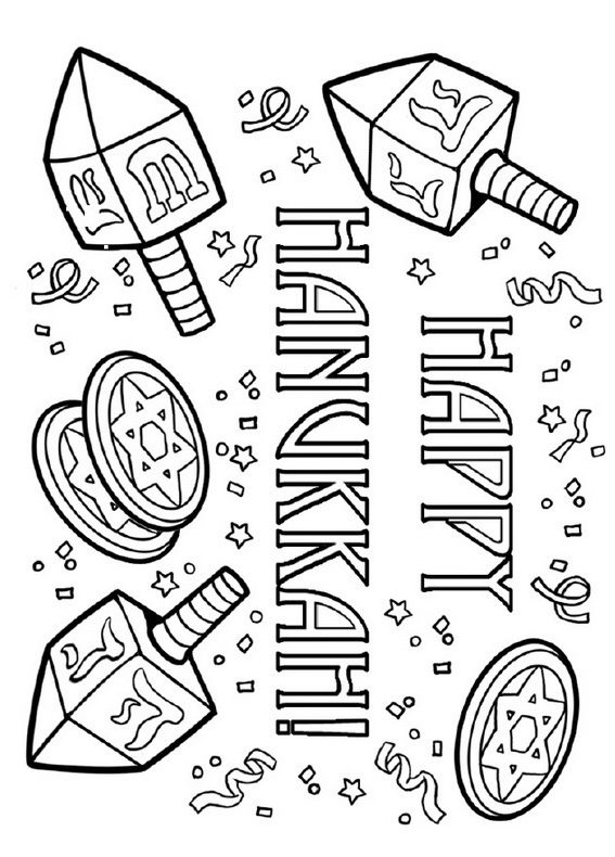 star coloring pages - hanukkah coloring pages