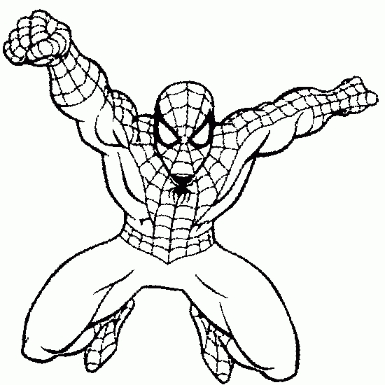 star coloring pages - spiderman 59