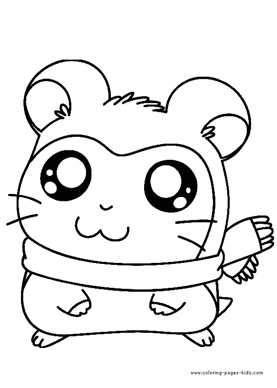 star wars printable coloring pages - hamtaro coloring page 10