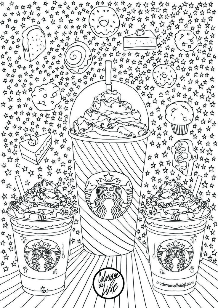 starbucks coloring page - coffee tea coloring pages for adults