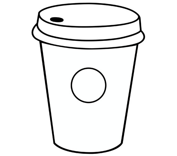 starbucks coloring page - starbucks cup coloring pages sketch templates
