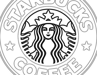 starbucks coloring page - starbucks logo coloring page printable sketch templates