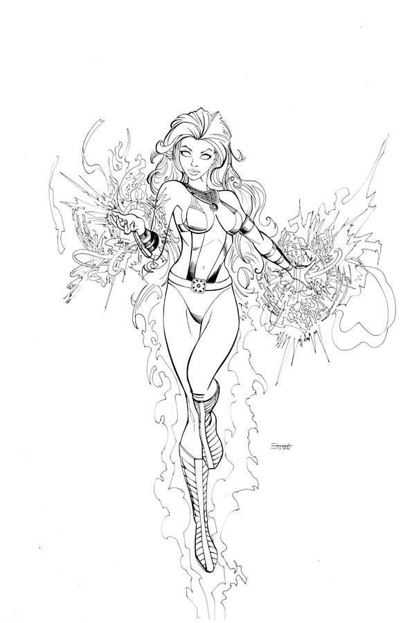 starfire coloring pages - starfire 01 ink 01 web