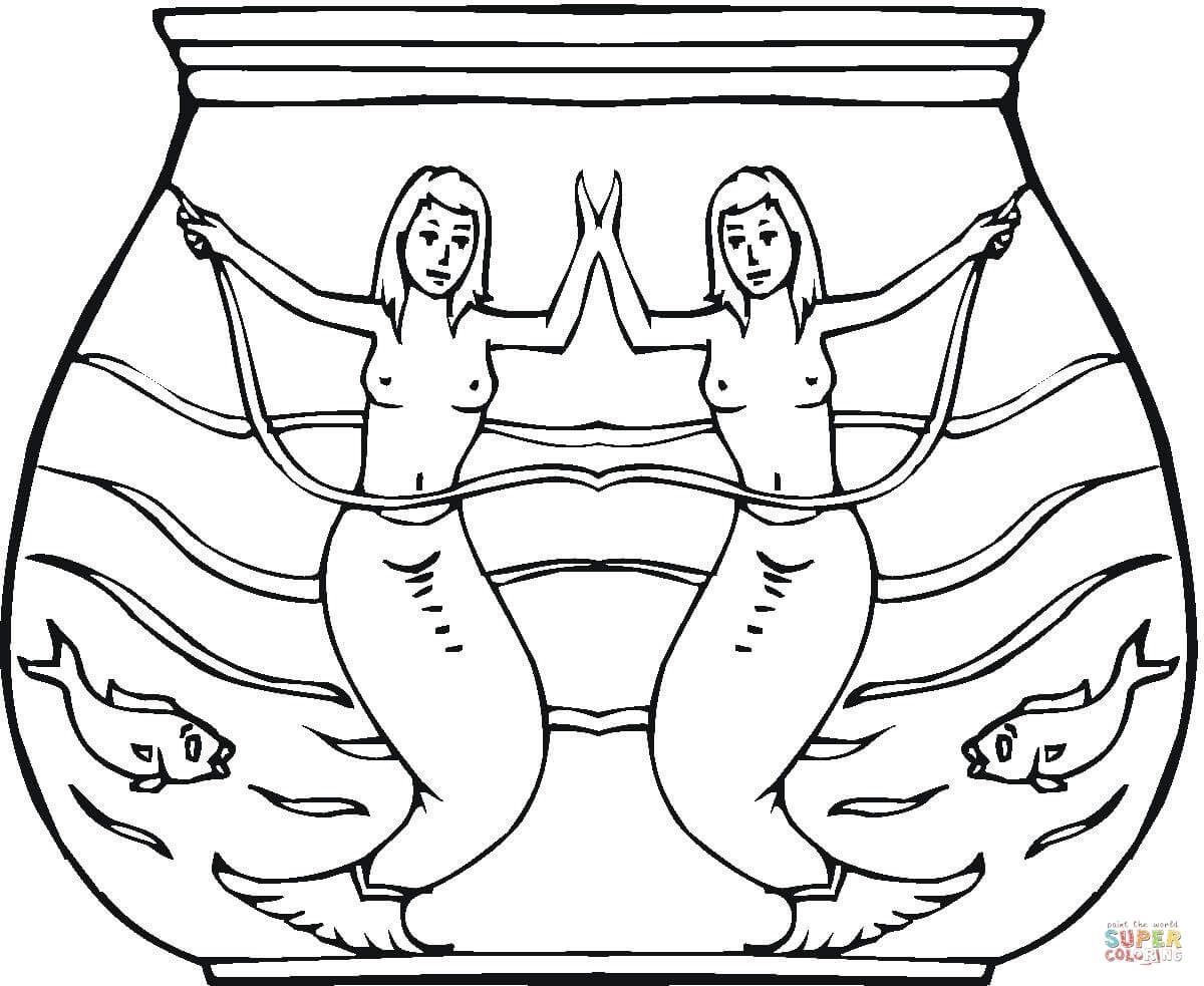 starfish coloring page - sirene