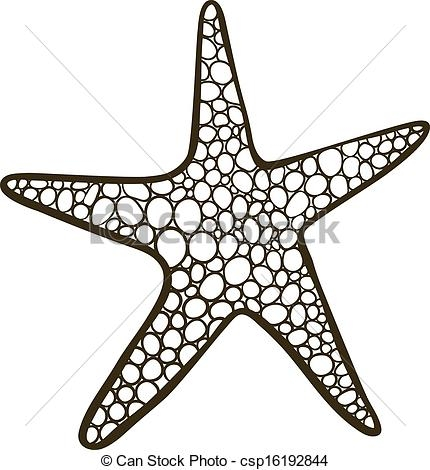 starfish coloring page - zeester