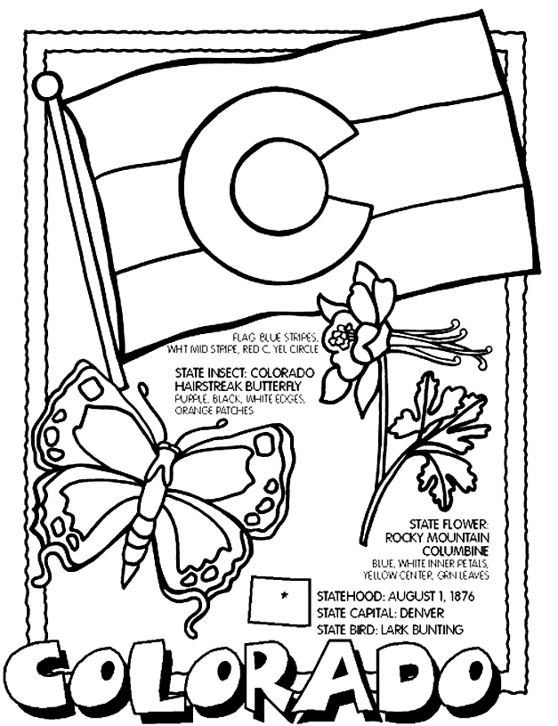 state coloring pages - 50 states coloring pages