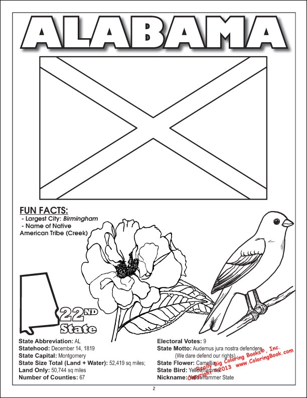 state coloring pages - states coloring book
