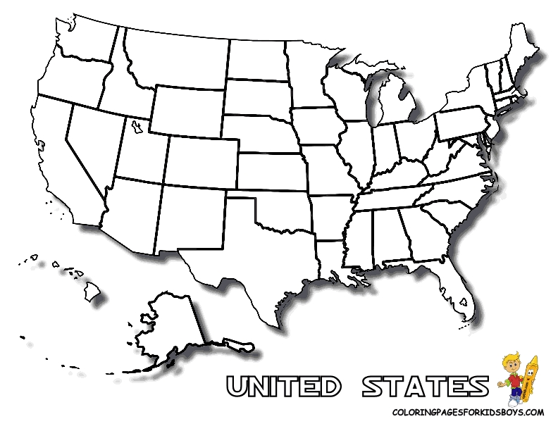 state coloring pages - coloring pages united states map