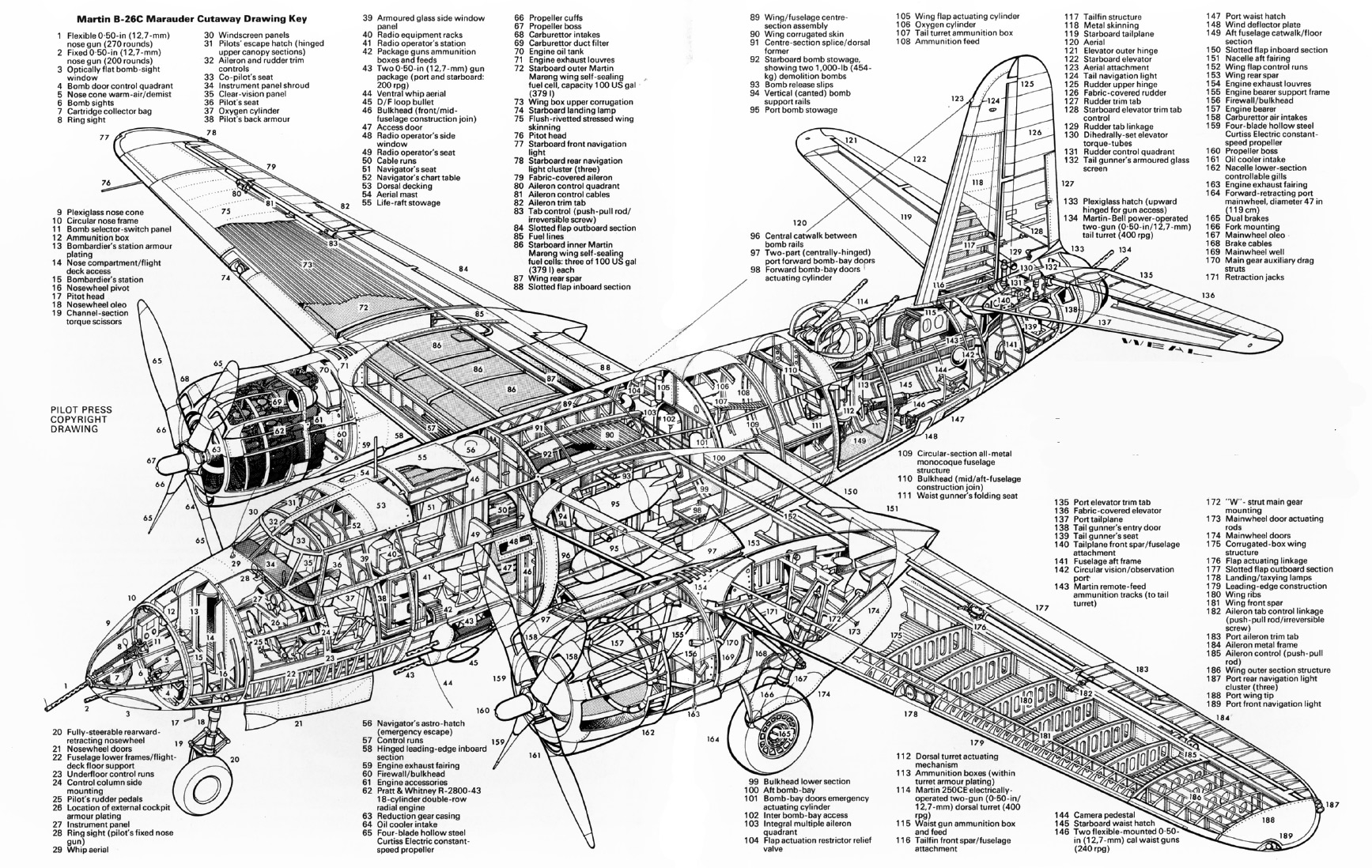 stations of the cross coloring pages - cutaway martin b 26c marauder