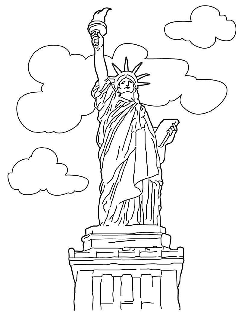 Statue Of Liberty Coloring Page - Free Printable Statue Of Liberty Coloring Pages for Kids