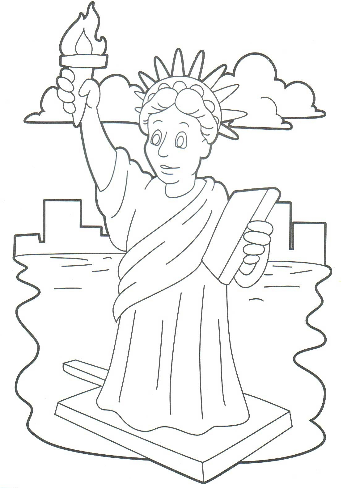 24 Statue Of Liberty Coloring Page Selection FREE COLORING PAGES