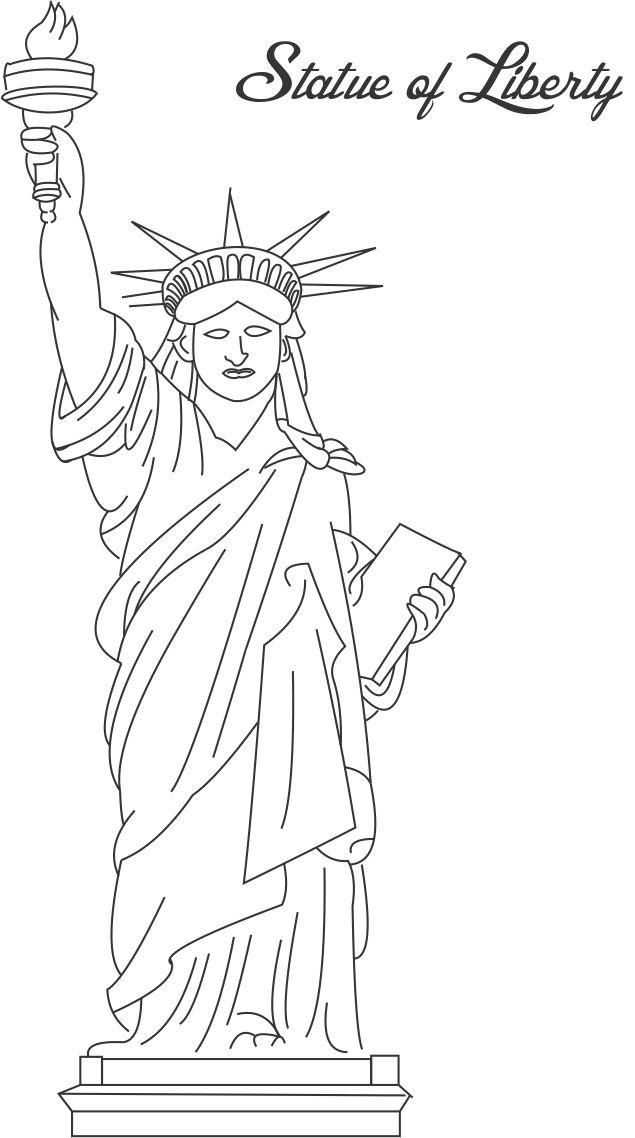 statue of liberty coloring page - statue of liberty coloring pages