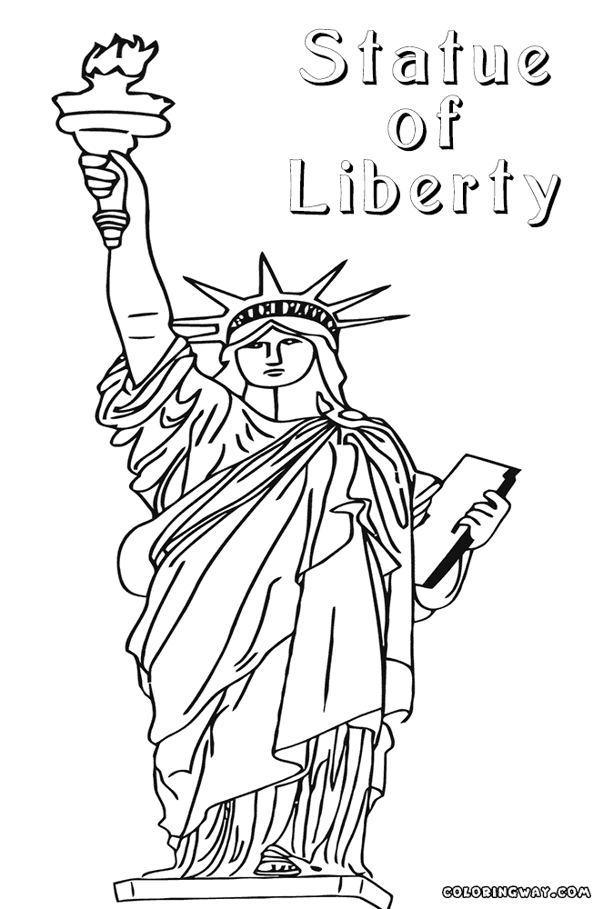 picture about Printable Statue of Liberty Template named 24 Statue Of Freedom Coloring Webpage Choice Absolutely free COLORING