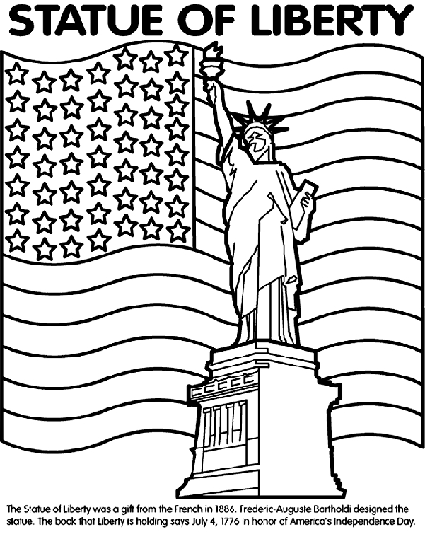 statue of liberty coloring page - statue of liberty