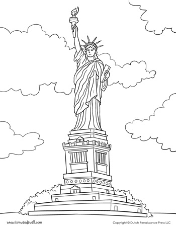 statue of liberty coloring page - coloring pages