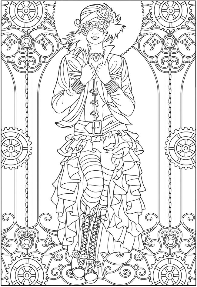 steampunk coloring pages -