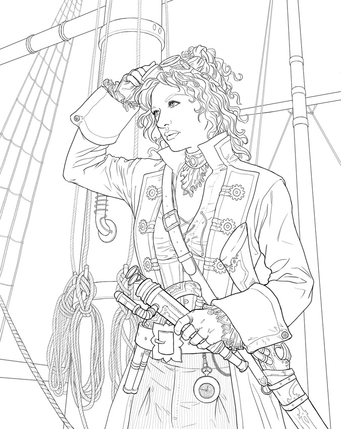 steampunk coloring pages - q=steampunk